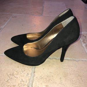 BCBGeneration Black Suede Pointed Toe Heels
